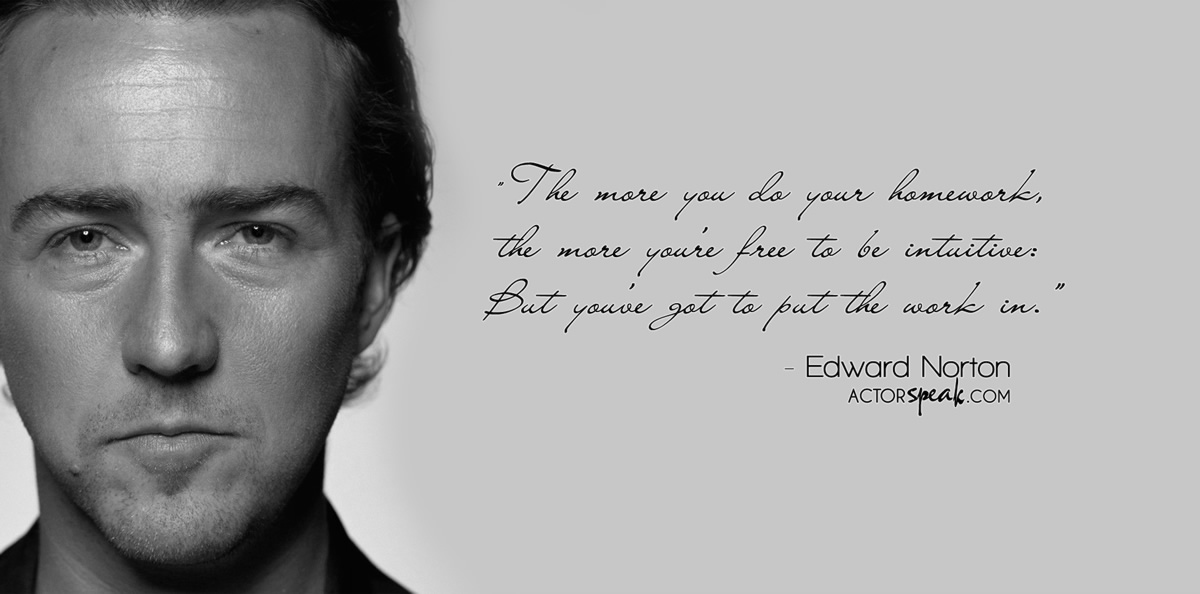 Acting Class Photo – Edward Norton