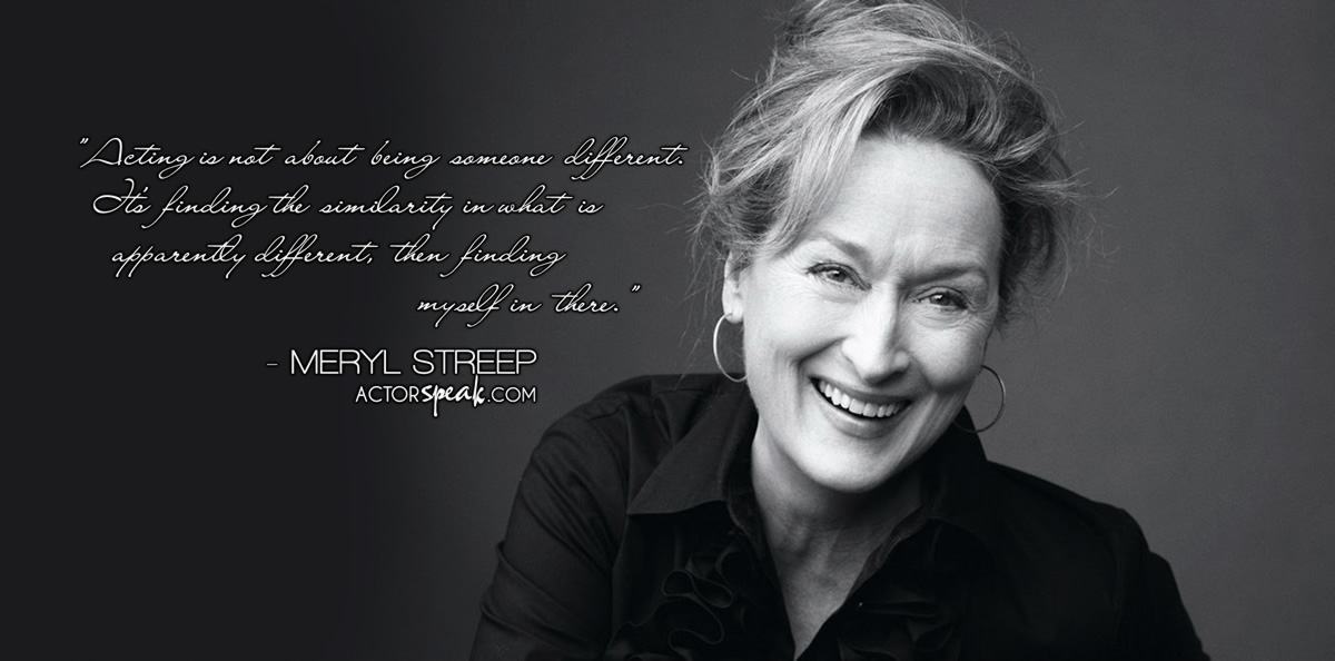 Acting Class Photo – Meryl Streep